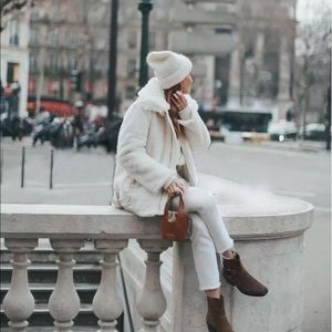 NWT Zara Faux Fur Bikers Jacket